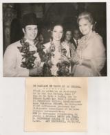 1969 PHOTO AFP MARIAGE DE KARIM ET SELIMA / AGA KAN / LA BEGUM / LADY CRICHTON STUART   N15 - Persone Identificate