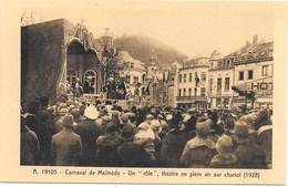 Malmédy NA10: Carnaval. Un Rôle, Théâtre En Plein Air Sur Chariot 1928 - Malmedy