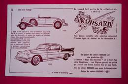 Buvard RONSARD N° 16, Voiture Packard 1958 - Macchina