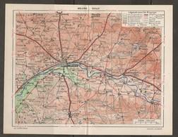 CARTE PLAN 1948 - RÉGION MEUNG SULLY - EURE Et LOIR LOIT Et CHER - ORLÉANS PATAY CHATEAUNEUF ARTENAY - Topographical Maps