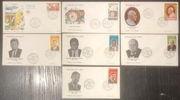 Congo - FDC - Premier Jour - Lot De 7 FDC - Thématique Divers - 1965 - FDC