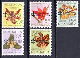 1965 - NICARAGUA -  Mi. Nr. 1397-1398+1401-1402+1406 - NH - (AS2302.57) - Nicaragua