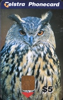 AUSTRALIE  -  Phonecard   -  Telstra Phonecard  -  Owl  - $ 5 - Australia