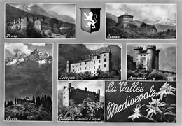 Cartolina Valle D'Aosta Valle Medioevale Vedute - Italia