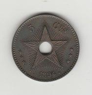 5 CENTIMES 1894 CUIVRE - Congo (Belga) & Ruanda-Urundi