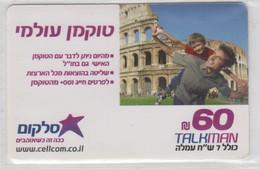 ISRAEL CELLCOM TALKMAN 60 SHEKELS ROMA COLISEUM - Israel