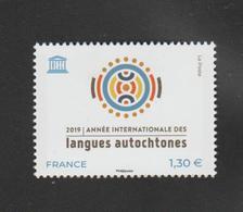 FRANCE / 2019 / Y&T SERVICE N° 176 ** : UNESCO (Année Internationale Des Langues Autochtones) X 1 - Ungebraucht
