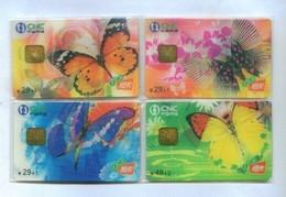 China Netcom Chip Cards, CNC-IC-2004-S18, Butterfly, 3D Card (4pcs,MINT) - China