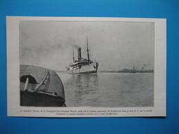 """(1920) Naufrage Du Paquebot """" AFRIQUE """" (Cie Des Chargeurs Réunis) Sur Le Plateau De Rochebonne Au Large De L'île De Ré - Vieux Papiers"""