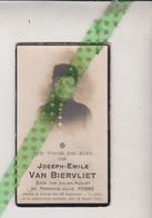 Joseph Emile Van Biervliet-Robbe, Komen 1887, 1924 - Obituary Notices