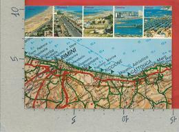 CARTOLINA NV ITALIA - Riviera Adriatica - Cartina Geografica - Vedutine Multivue - 10 X 15 - Mapas