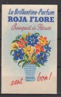 Carte Parfumée -  La Brillantine Parfum Roja Flore - Bouquet Et Fleurs - Vintage (until 1960)