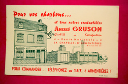 Buvard Charbon André GRUSSON, La Chapelle-d'ARMENTIÈRE - Non Classificati