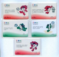 China Netcom Chip Cards, CNC-IC-2007-S4, Beijing Olympics (5pcs,MINT) - China