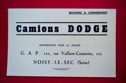 Buvard Camions DODGE, Noisy-Le-Sec - Automotive