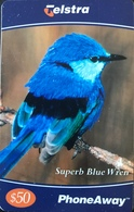 AUSTRALIE  -  Phonecard   -  Telstra PhoneAway  -  Superb Blue Wren  -  $ 50 - Australië