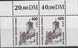 2001 Deutschland Allem. Fed. Mi. 2211**MNH Oberrand Paar   Sehenswürdigkeiten Wartburg Bei Eisenach - [7] République Fédérale