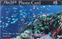 AUSTRALIE  -  Prepaid   -  One.Tel  -  Great Barrier Reef  -  $ 5 - Australië