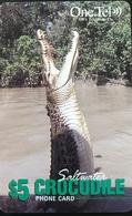 AUSTRALIE  -  Prepaid   -  One.Tel  -  Crocodile  -  $ 5 - Australië