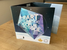 Canada Heart Of The Arctic Folder With 4 Coins - Canada