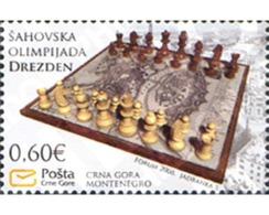 Ref. 223490 * MNH * - MONTENEGRO. 2008. WORLD CHESS CHAMPIONSHIP IN DRESDEN-2008 . OLIMPIADA MUNDIAL DE AJEDREZ EN DREZD - Montenegro
