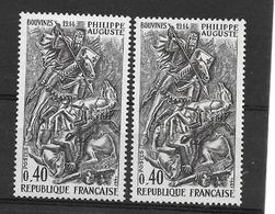 France:Variété N°1538** 3 Lances Au Lieu De 4 (timbre De Droite Pour Voir La Difféence Offert) - Kuriositäten: 1960-69 Ungebraucht