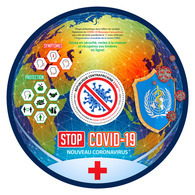 CENTRAL AFRICA 2020 - WHO, Stop COVID-19, S/S Official Issue [CA200312b] - WHO