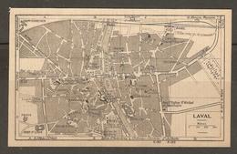CARTE PLAN 1948 - LAVAL - VIADUC CASERNE PRISON ARCHIVES ÉVÉCHÉ CIMETIERE HOPITAL - Topographical Maps
