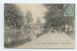 RARE CPA 1907 MEURTHE MOSELLE FROUARD ANIME CANAL DE LA MARNE AU RHIN PONT DE LA GARE BE - Frouard