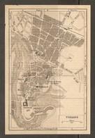 CARTE PLAN 1948 - THOUARS - CASERNE MUSÉE HOPITAL THÉATRE TOUR Du PRINCE De GALLES - Topographical Maps