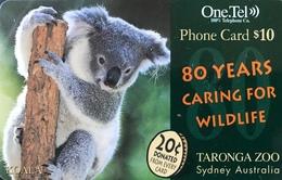 AUSTRALIE  -  Prepaid   -  One.Tel  -  Koala  -  $ 10 - Australië