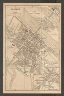 CARTE PLAN 1948 - SAUMUR - ÉCOLE De CAVALERIE SORTIES De SAUMUR ILE OFFARD ILE MILLOCHAU - Topographical Maps