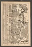 CARTE PLAN 1948 - LE VIEUX MANS - NOMBREUX HOTELS ENCEINTE ANCIENNE SALLE De SPECTACLE ANCIEN HOPITAL - Topographical Maps