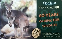 AUSTRALIE  -  Prepaid   -  One.Tel  -  Red Kangaroo  -  $ 20 - Australië