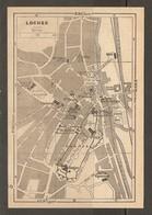 CARTE PLAN 1948 - LOCHES - DONJON CHAPELLE De VIGNEMONT CHATEAU GRAND MAIL ANCIEN COUVENT - Topographical Maps