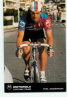 Phil ANDERSON . 2 Scans. Cyclisme. Motorola - Cycling