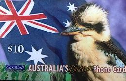 AUSTRALIE  -  Prepaid   -  Card Call  -  Kookaburra  -  $ 10 - Australië