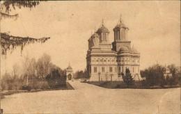 Postcard Argisch Curtea De Argeş Straße Und Kirche 1912 - Rumania