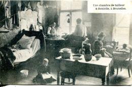 N°9494 -cpa Une Chambre De Tailleur à Domicile à Bruxelles - Old Professions