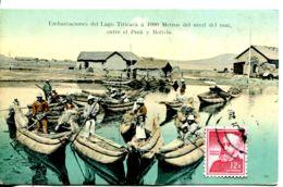 N°9517 -cpa Embarcation Del Lago Titicaca - Perú