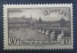 France 1939, Yvert No 450 , Pont De La Guillotiere , Lyon , 90 C , Neuf ** MNH TB - France