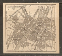 CARTE PLAN 1948 - CHATELLERAULT - MANUFACTURE D'ARMES - Topographical Maps