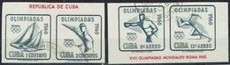 DEPORTES. OLIMPIADAS DE ROMA 1960. SELLOS PROCEDENDES DE HB - Cuba