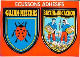 33 - GUJAN MESTRAS / CARTE ECUSSONS ADHESIFS - Gujan-Mestras