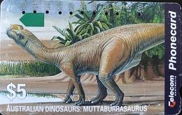 AUSTRALIE  -  Phonecard  -  Telecom Australia  -  Muttaburrasaurus  -  $ 5 - Australië