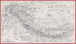 Carte De La Chaîne De L'Himalaya, Avec Altitude Des Sommets. Larousse 1960. - Documents Historiques