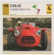 Verzamelkaarten Collectie Atlas: Ferrari 166 Spider Corsa - Voitures