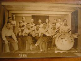 """Prisonniers Français     Carte-photo    """"Kartoffel Jazz"""" - Guerre 1914-18"""