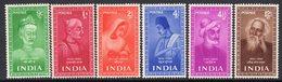 India 1952 Saints & Poets Set Of 6, MNH, SG 337/42 (D) - 1950-59 Republik