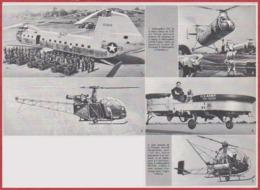 Hélicoptères. Hélicoptère YH16, Vercol, Alouette, Jeep Volante De La Piasecki Aircraft Corp, Djinn. Larousse 1960. - Documents Historiques